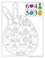 Cherche et trouve à colorier-Pâques-Petites douceurs
