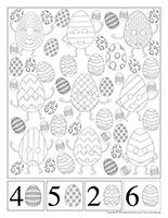 Cherche et trouve à colorier-Pâques