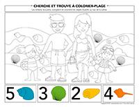Cherche et trouve à colorier-Plage
