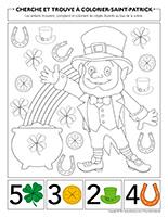 Cherche et trouve à colorier-Saint-Patrick