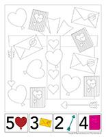 Cherche et trouve à colorier-Saint-Valentin 2020