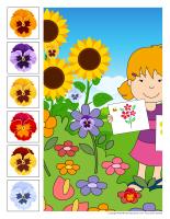 Cherche et trouve géant-Fleurs-jeu