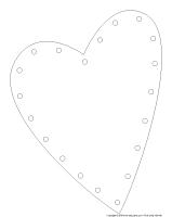 Coeur à enfiler