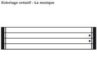 Coloriage créatif-La musique