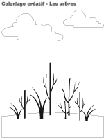 Coloriage créatif-Les arbres
