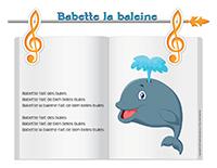 Comptine-Babette la baleine