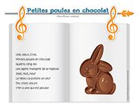 Comptine-Petites poules en chocolat