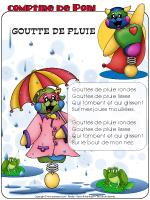 Comptine de Poni - Gouttes de pluie