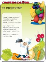 Comptine de Poni - Le cuisinier
