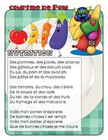 Comptine de Poni-La nutrition