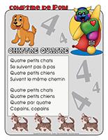 Comptine de Poni-Le chiffre 4