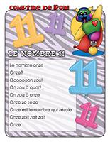 Comptine de Poni-Le nombre 11