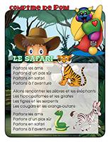 Comptine de Poni-Le safari