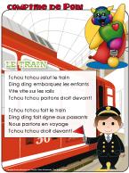 Comptine de Poni-Le train