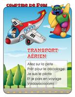 Comptine de Poni-Le transport aérien