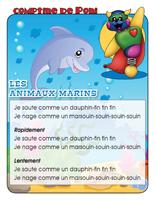 Comptine de Poni-Les animaux marins