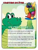 Comptine de Poni-Les crocodiles