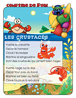 Comptine de Poni-Les crustacés