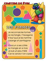 Comptine de Poni-Les formes