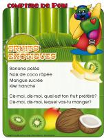 Comptine de Poni-Les fruits exotiques