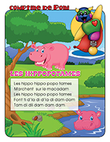 Comptine de Poni-Les hippopotames