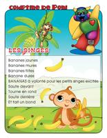 Comptine de Poni-Les singes