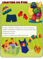 Comptine de Poni-Les vêtements