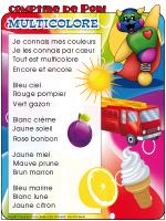 Comptine de Poni-Multicolore