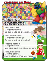 Comptine de Poni-Routine olympique
