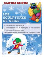 Comptine de Poni-Sculpture de neige