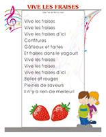 Comptines-Les fraises