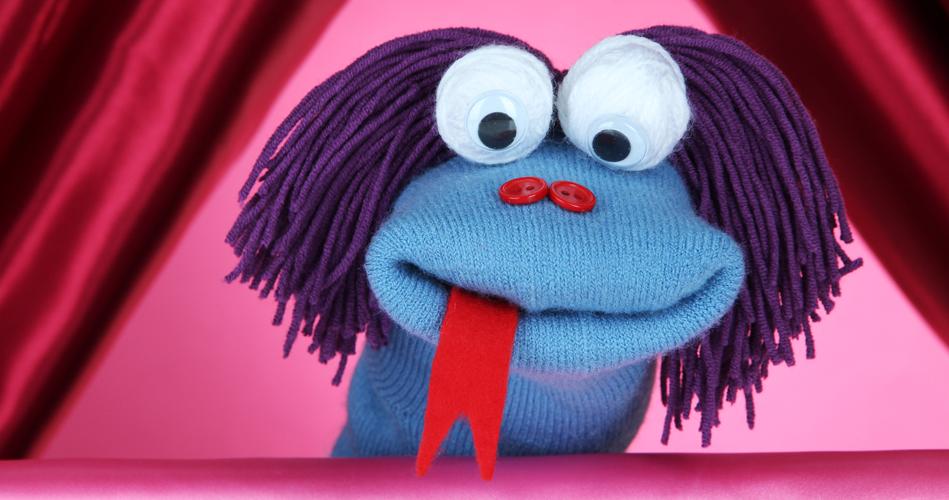 Fabuleux Coquette marionnette en chaussette, trouvailles originales  ZU94