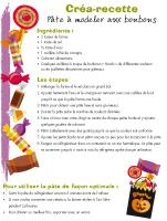 Créa-recette - Pâte à modeler aux bonbons