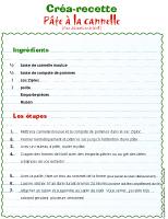 Créa-recette-Pâte à la cannelle