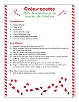 Créa-recette-Pâte à modeler à la canne de bonbon