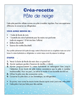 Créa-recette-Pâte de neige