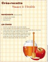 Créa-recette-Pomme à l'érable