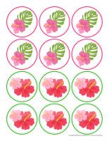 Déco-gâteau-Flamants roses-2