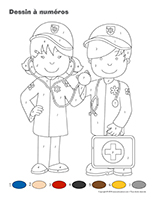 Dessin à Numéros-Ambulanciers-Ambulancières