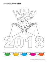 Dessin à Numéros-Bonne année 2018