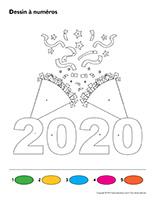 Dessin à Numéros-Bonne année 2020