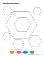 Dessin à Numéros-Hexagone