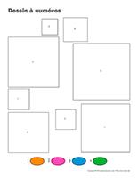 Dessin à Numéros-Le carré