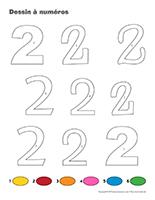 Dessin à Numéros-Le chiffre 2