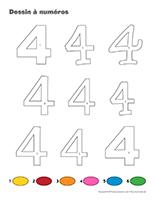 Dessin à Numéros-Le chiffre 4