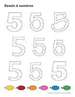 Dessin à Numéros-Le chiffre 5