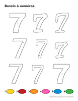 Dessin à Numéros-Le chiffre 7