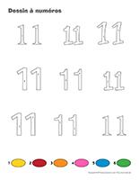 Dessin à Numéros-Le nombre 11