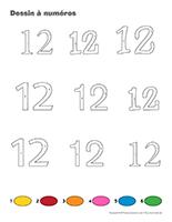 Dessin à Numéros-Le nombre 12