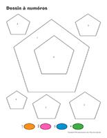 Dessin à Numéros-Le pentagone